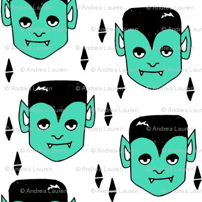 vampire // green scary spooky vampiro creepy green october halloween