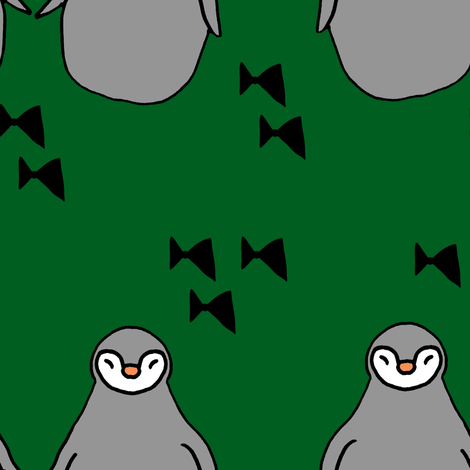 penguins green fabric by pysselnabon on Spoonflower - custom fabric
