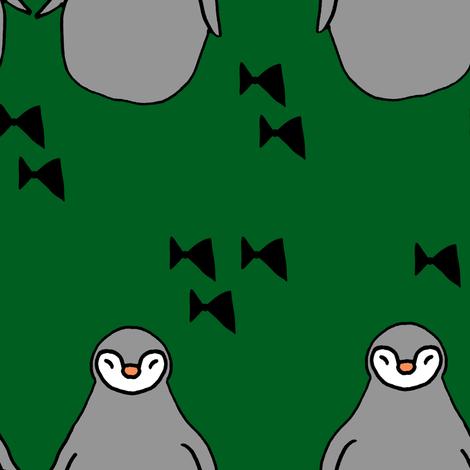 penguins green fabric by pysselnabon on Spoonflower - custom fabric
