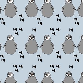 penguins baby blue