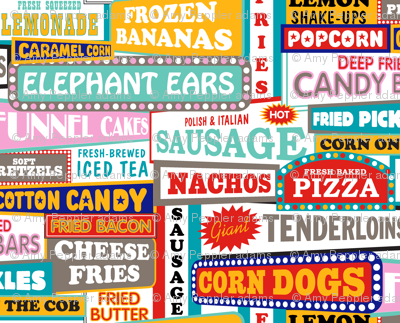 State Fare || fair carnival amusement park junk food snacks typography summer restaurant truck vendor sign marquee