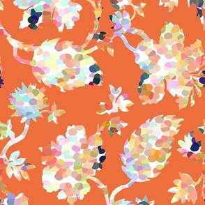 Pippa Floral / Tangerine