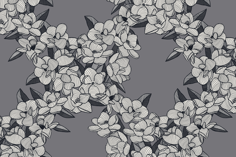 Magnolia Story Main - Ebony fabric by docious_designs_by_patricia_braune on Spoonflower - custom fabric