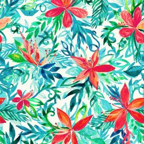 Watercolor Paradise Floral