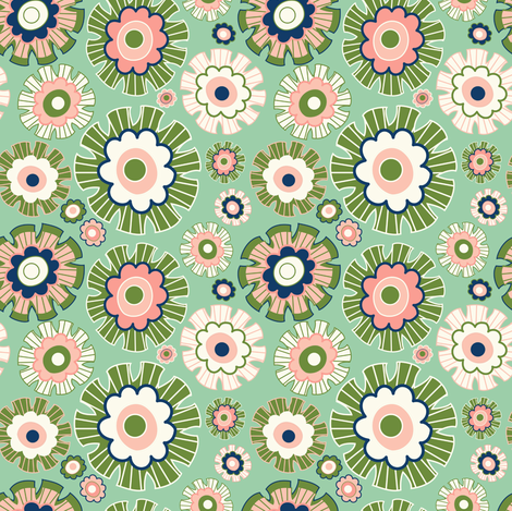 Flora_dot fabric by fizah_malik on Spoonflower - custom fabric