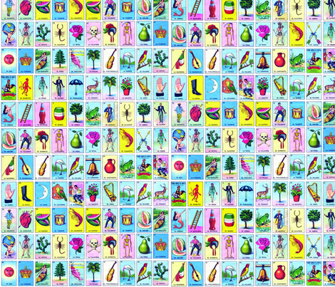 Loteria small fabric by jellymania on Spoonflower - custom fabric