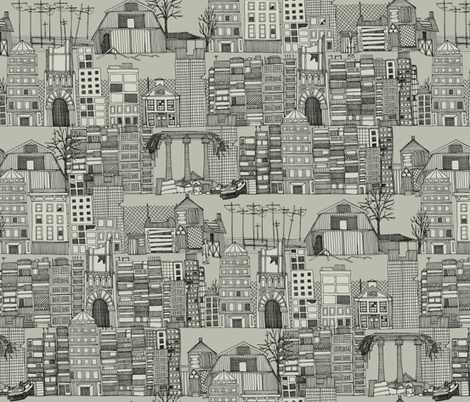 dystopian toile mono fabric by scrummy on Spoonflower - custom fabric