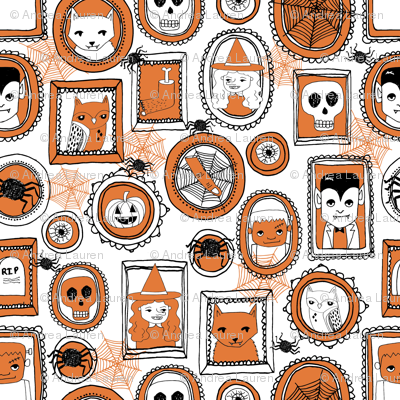 halloween portraits // orange kids pumpkins witches spider cats creepy scary cute