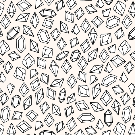 crystals // tiny small print gems crystal fabric andrea lauren design fabric by andrea_lauren on Spoonflower - custom fabric