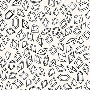 crystals // tiny small print gems crystal fabric andrea lauren design