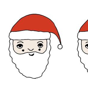 santa // father christmas plush plushie cut and sew plush pillow santa