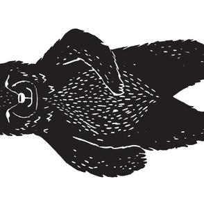 Bear Rug - XL Forest Bear (Linocut) by Andrea Lauren