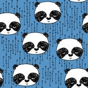 Panda - Cerulean Blue by Andrea Lauren