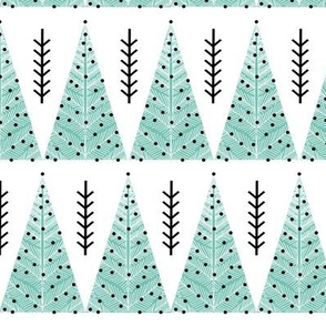 christmas tree forest // mint trees evergreen trees holiday christmas tree fabric cute