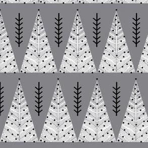 christmas triangle trees // christmas fabric charcoal christmas trees cute christmas design holiday fabric