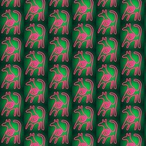 Cave Art Animal Neon Pink