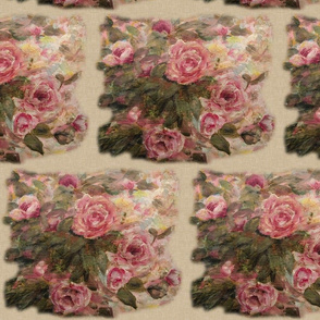 Wooded Roses Beige