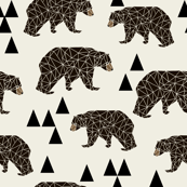 geo bear // small geometric bear fabric bear fabric boys nursery kids boy