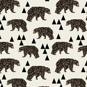 geo bear // small geometric bear fabric bear fabric boys nursery kids boy