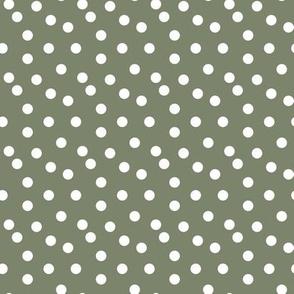 dots // polka dot spot green camo green khaki green