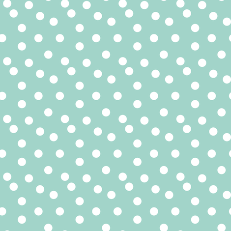 dots // mint white polka dots mini print cute small scale  fabric by andrea_lauren on Spoonflower - custom fabric
