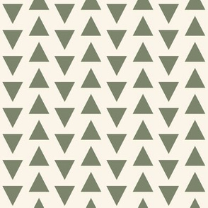 triangles // green outdoors cream green soft khaki beige
