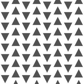 triangle // charcoal white stripes rows grey tri