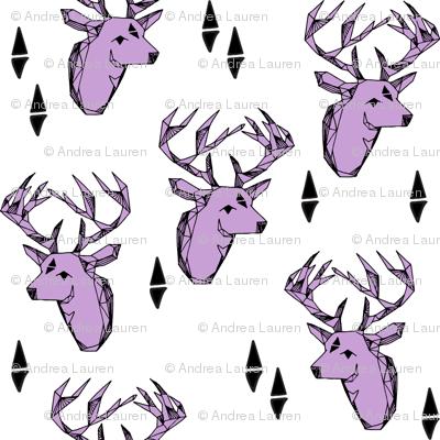 deer head // pastel purple lilac lavender kids triangles tri antlers