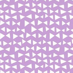 bow tri // pastel purple triangles bow tie tri