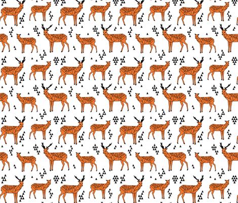 deer // tri triangle deer boy baby boy kids room  fabric by andrea_lauren on Spoonflower - custom fabric