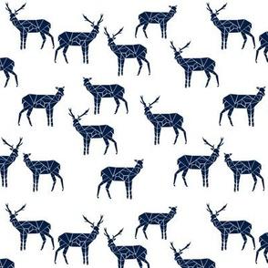 deer // geometric deer navy blue nursery boy baby boy cute kids