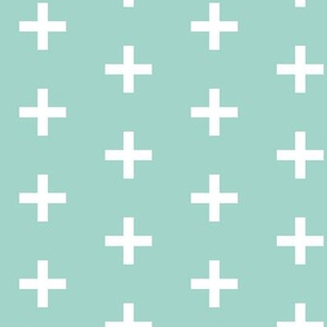 plus // plus sign swiss cross mint kids nursery baby