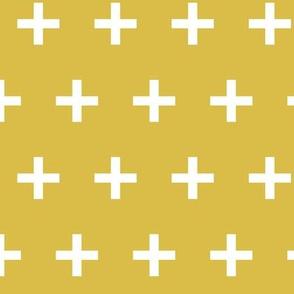 Swiss Cross - Mustard by Andrea Lauren