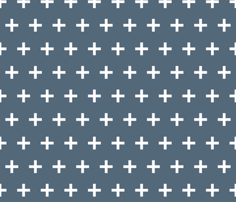 Swiss Cross - Payne's Grey by Andrea Lauren  fabric by andrea_lauren on Spoonflower - custom fabric