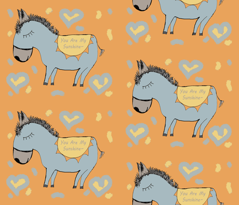 Happy Sunshine Burros fabric by therustichome on Spoonflower - custom fabric