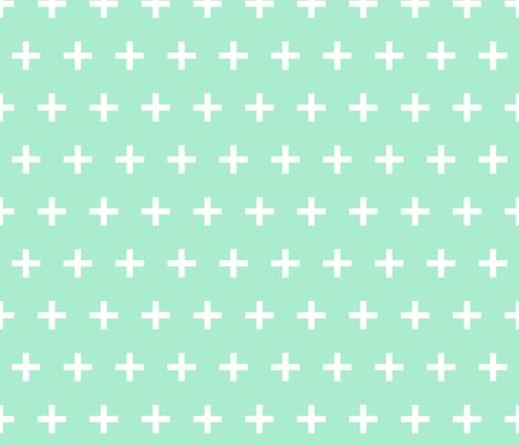 Swiss Cross - Pistachio by Andrea Lauren  fabric by andrea_lauren on Spoonflower - custom fabric