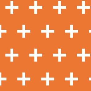 Swiss Cross - Tangelo Orange by Andrea Lauren
