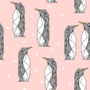 geo penguin // penguin pingu penguins pink pastel pink girls nursery baby pink cute
