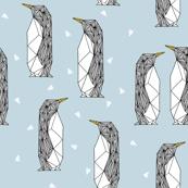 geo penguin // winter blue ice blue kids penguins pingu winter