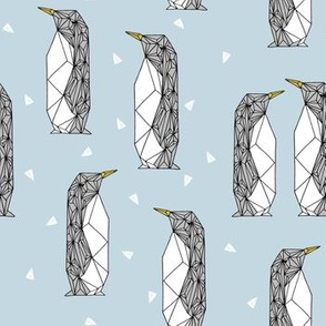 geo penguin // winter blue ice blue kids penguins pingu winter