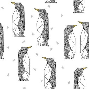 geo penguins // white penguin pingu bird bird grey winter kids