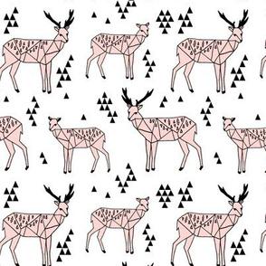 Geo Deer - Rose Pink by Andrea Lauren