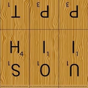 Wooden Letter Tile Banner