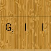 Scrabble Tile Banner Letters