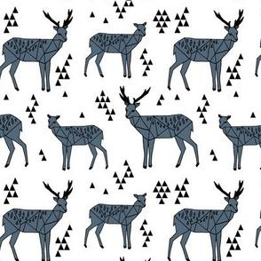 Geo Deer - Payne's Grey by Andrea Lauren