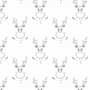 Deer-grey-white