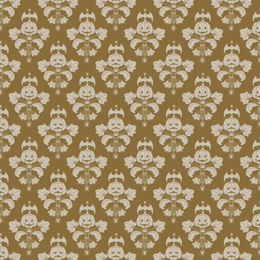 Jack-O-Lantern Damask Brown/Beige