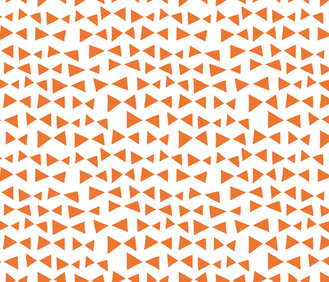 Bow Tri - Tangelo Orange by Andrea Lauren  fabric by andrea_lauren on Spoonflower - custom fabric