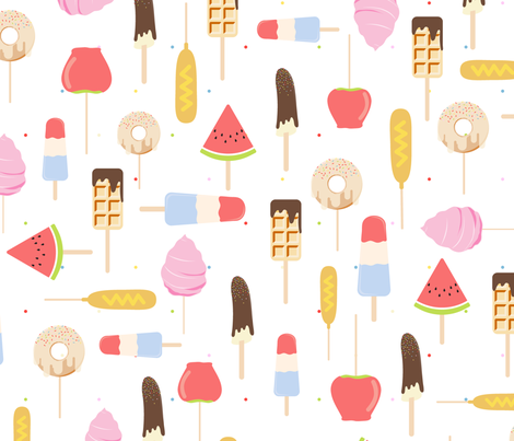 Food On a Stick fabric by anom-aly on Spoonflower - custom fabric