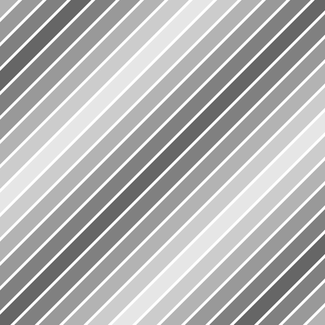 diagonal piped mirrored grey stripe fabric by sef on Spoonflower - custom fabric